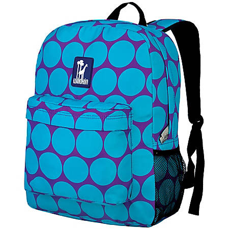 Wildkin Crackerjack Laptop Backpack, Big Dot Aqua