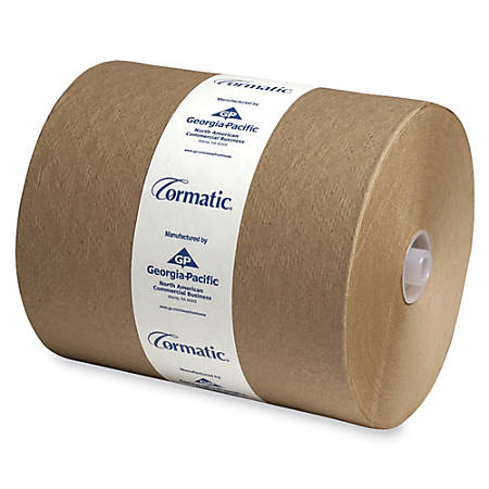 "Cormatic 100% Recycled Hardwound Roll Towels, 8 1/4"" x 702', Brown, Carton Of 6"