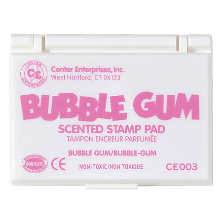 """Center Enterprise Scented Stamp Pads, Bubble Gum Scent, 2 1/4"""" x 3 3/4"""", Pink, Pack Of 6"""