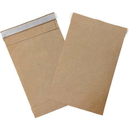 "Office Depot® Brand Kraft Self-Seal Padded Mailers, #1, 7 1/4"" x 12"", Pack Of 100"