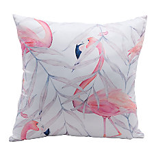 Zuo Modern Mr Flamingo Pillow Multicolor