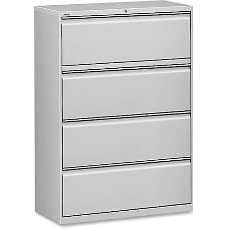 Lorell® Fortress Series 36''W 4-Drawer Steel Lateral File Cabinet, Light Gray