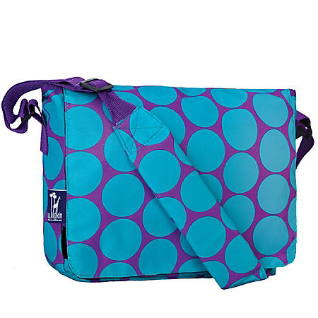 Wildkin Kickstart Messenger Bag, Big Dots Aqua