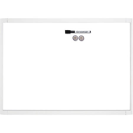 """Quartet Decorative Dry-erase Whiteboard - 17"""" (1.4 ft) Width x 11"""" (0.9 ft) Height - White Stainless Steel Surface - Assorted Plastic Frame - Rectangle - 1 Each"""
