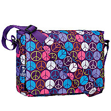 Wildkin Kickstart Messenger Bag Peace Signs
