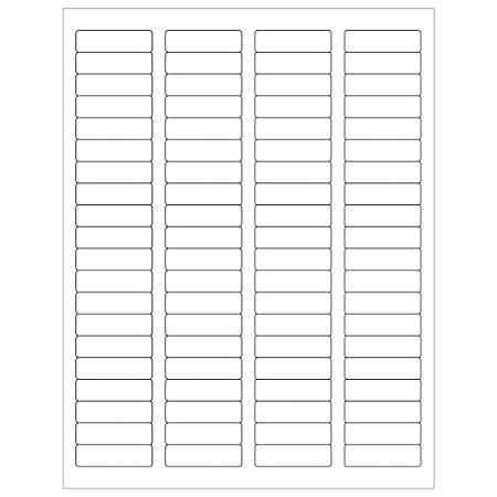 "Office Depot® Brand Removable Rectangular Laser Labels, LL261, 1 3/4"" x 1/2"", White, Case Of 8,000"