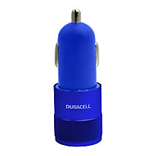 Duracell Dual USB Charger Car Blue