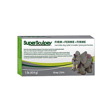 Sculpey Super-Firm Sculpting Compound, 1 Lb, Gray
