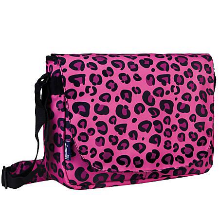 Wildkin Laptop Messenger Bag, Pink Leopard