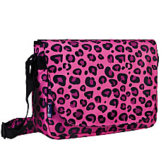 Wildkin Laptop Messenger Bag Pink Leopard