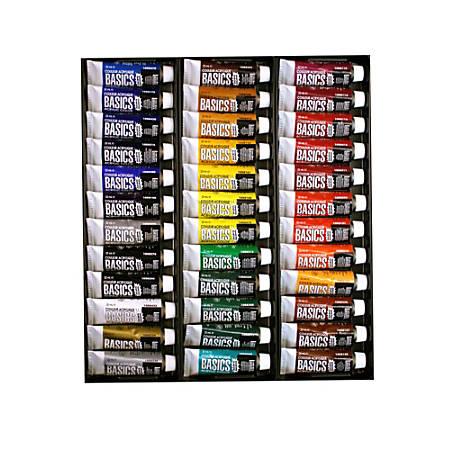 Liquitex Basics Value Series Acrylic Colors, 0.74 Oz, Assorted Colors, Set Of 36