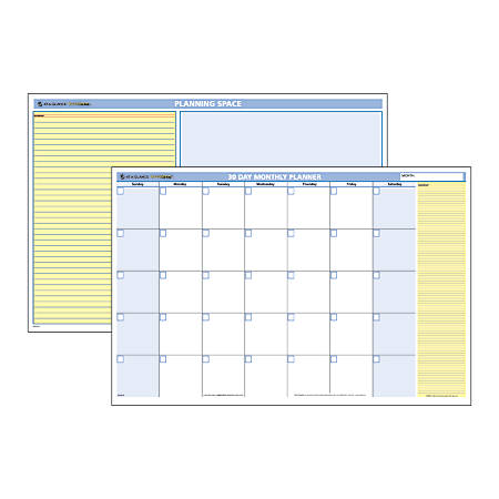 AT-A-GLANCE® QuickNotes® 30-Day Erasable/Reversible Wall Planner