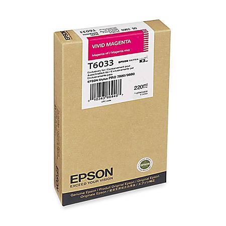Epson T6033 - 220 ml - vivid magenta - original - ink cartridge - for Stylus Pro 7880, Pro 9800