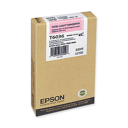 Epson T6036 - 220 ml - vivid light magenta - original - ink cartridge - for Stylus Pro 7880, Pro 9800