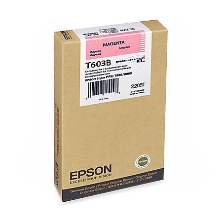 Epson T603B - 220 ml - magenta - original - ink cartridge - for Stylus Pro 7800, Pro 7800 Professional Edition