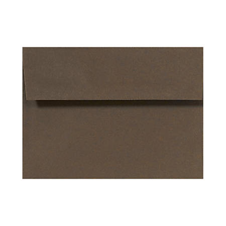 "LUX Invitation Envelopes With Peel & Press Closure, A2, 4 3/8"" x 5 3/4"", Chocolate Brown, Pack Of 50"