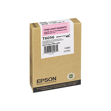 Epson T6056 - 110 ml - vivid light magenta - original - ink cartridge - for Stylus Pro 4800, Pro 4880