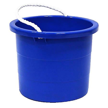 united solutions rope handle tub 5 gallon blue by office depot officemax. Black Bedroom Furniture Sets. Home Design Ideas