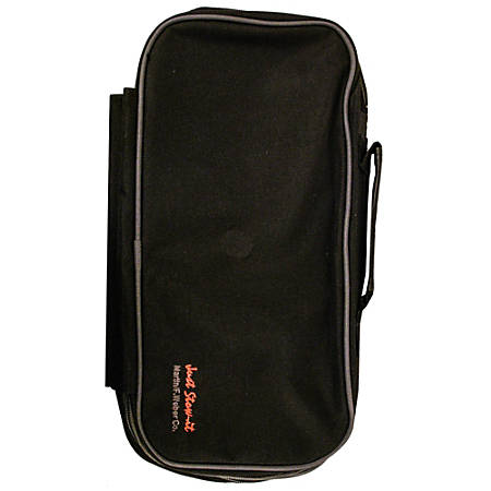 "Martin F. Weber Just Stow-it Creative Double Expandable Tool Bag, 14 1/2""W x 7""H x 3""D, Black/Gray"