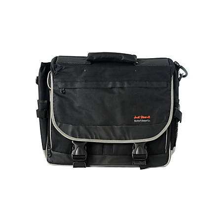 "Martin F. Weber Just Stow-It Ultimate Artist Messenger Bag With 17"" Laptop Pocket, Black"