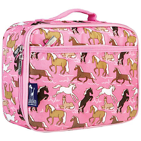 Wildkin Polyester Lunch Box, Horses In Pink