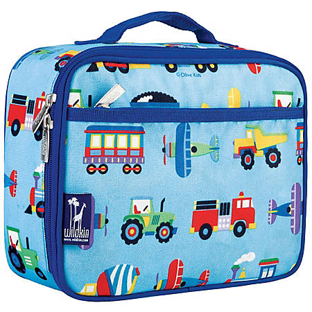 Wildkin Polyester Lunch Box, Trains, Plains And Trucks By Olive Kids