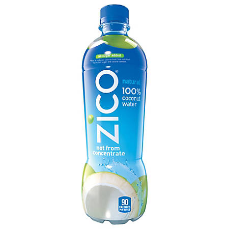 Zico® Natural Coconut Water, 16.9 Oz, Case Of 12