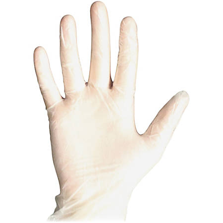 DiversaMed Disposable Powder-free Medical Exam Gloves - Large Size - Vinyl - Clear - Powder-free, Disposable, Ambidextrous, Beaded Cuff - For Medical, Dental, Laboratory Application - 1000 / Carton
