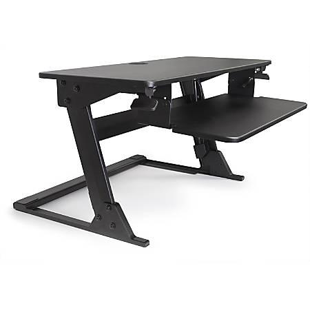 Alba Move HOP! Sit-To-Stand Adjustable Desk Riser, Black