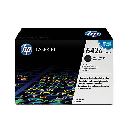 HP 642A, Black Original Toner Cartridge (CB400A)