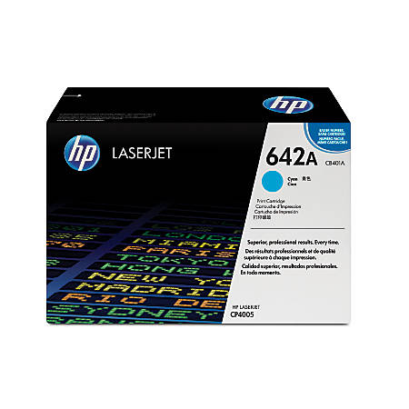 HP 642A, Cyan Original Toner Cartridge (CB401A)