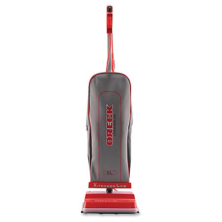 "Oreck U2000RB-1 Commercial Vacuum - Bagged - Brush - 12"" Cleaning Width - Carpet, Wooden Floor, Laminate Floor, Tile Floor, Hard Floor - 40 ft Cable Length - Red, Silver"