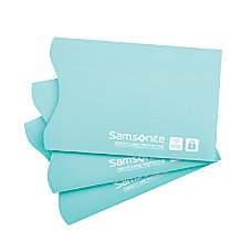 Samsonite RFID Sleeves Turquoise Pack Of