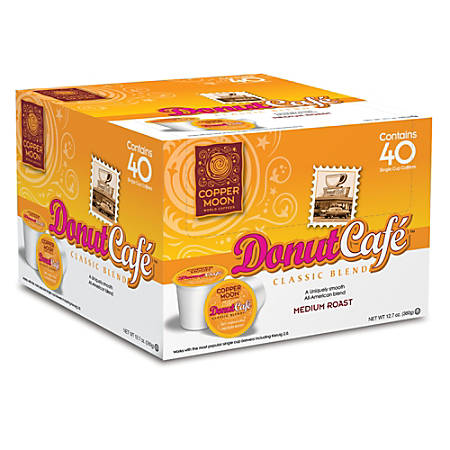 Copper Moon® Coffee Single Serve Cups, Donut Café, 14.12 Oz, Pack Of 40
