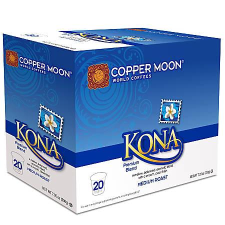 Copper Moon® World Coffees Single-Serve K-Cup®, Kona, 8.11 Oz, Carton Of 20