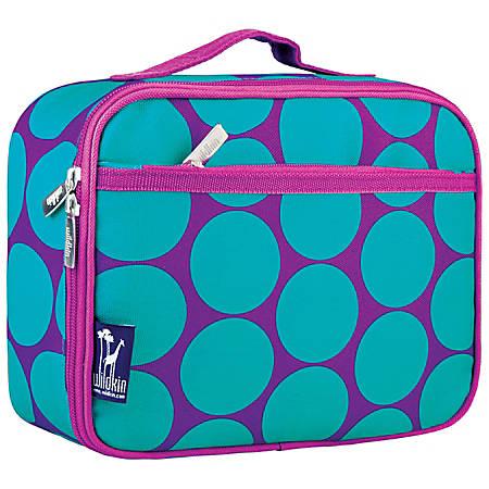 Wildkin Polyester Lunch Box, Big Dot Aqua