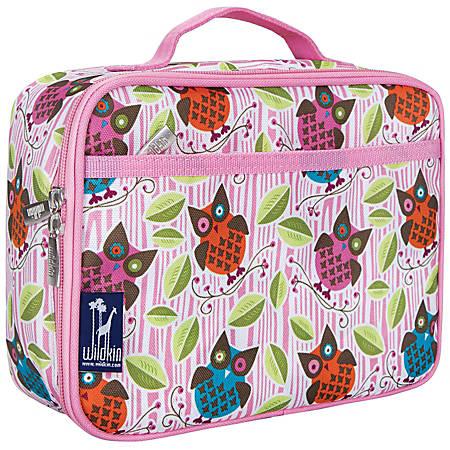 "Wildkin Polyester Lunch Box, 9 3/4""H x 7""W x 3 1/4""D, Owls"