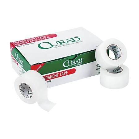 "CURAD® Transparent Adhesive Tape, 1"" x 10 Yd, White, Box Of 12"