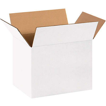 "Office Depot® Brand Corrugated Boxes, 10""H x 10""W x 14""D, White, Bundle Of 25"
