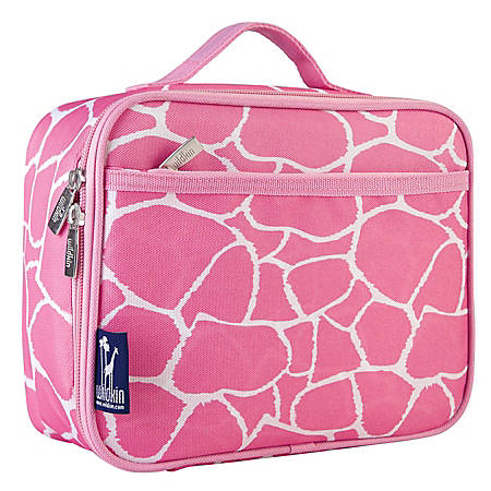 Wildkin Polyester Lunch Box, Pink Giraffe