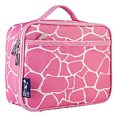 Wildkin Polyester Lunch Box Pink Giraffe