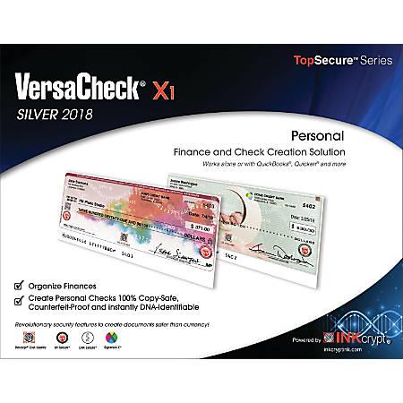 VersaCheck® X1 Silver 2018, Traditional Disc