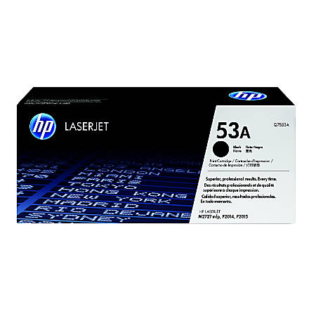 HP 53A, Black Original Toner Cartridge (Q7553A)