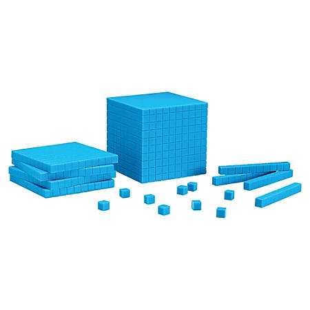 Learning Resources® Base 10 Starter Set, Blue, Pre-K - College