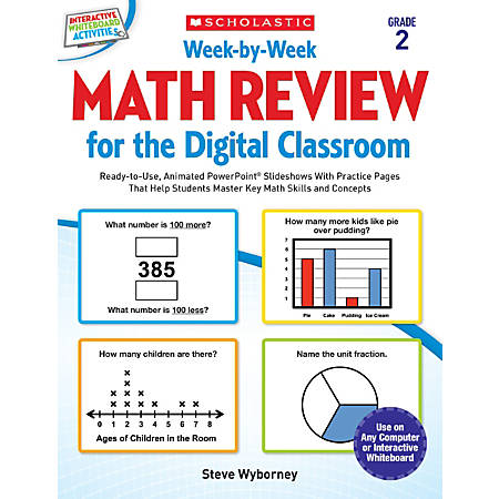Scholastic Teacher Resources Week-By-Week Math Review For The Digital Classroom, Grade 2