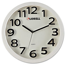 Lorell 13 Round Quartz Wall Clock