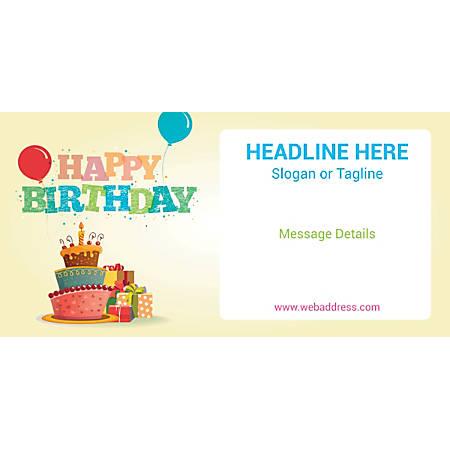 Custom Horizontal Banner, Cake And Gifts