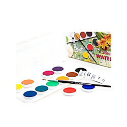 grumbacher deluxe opaque watercolor set set of 12 pans by office