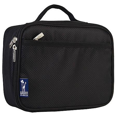 Wildkin Polyester Lunch Box, Rip-Stop Black
