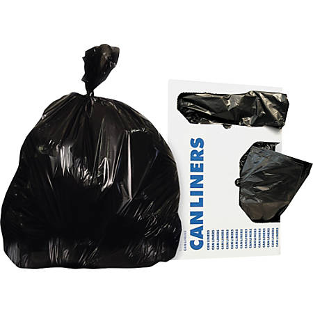 """Heritage Linear Low-Density Dark Can Liners - 33 gal - 33"""" Width x 39"""" Length x 0.50 mil (13 Micron) Thickness - Low Density - Black - Linear Low-Density Polyethylene (LLDPE) - 250/Carton - Can"""